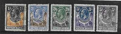 Northern Rhodesia  Sg 10/14  1/- To 5/-   From 1925/9 G.v. Set   Fine Used
