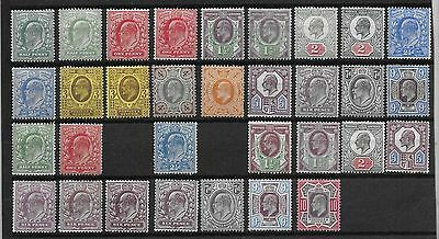 Great Britain  Ed Vii Selection Between Sg 215 & 309  Mounted Mint   Mainly Fine
