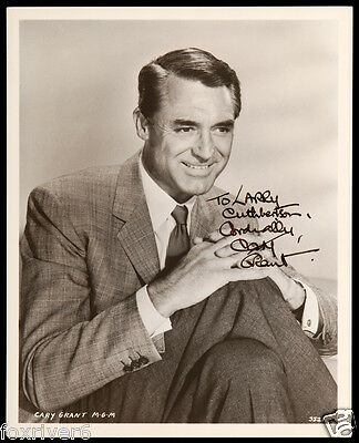 CARY GRANT Signed Photograph - Film Star Actor B&W 10x8