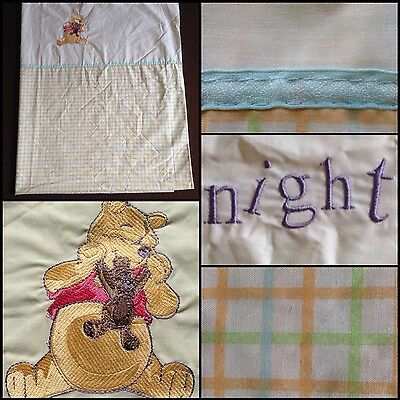 Winnie The Pooh Cotbed Duvet Cover Bn But Slight Marks Embroidered Nice Colour!