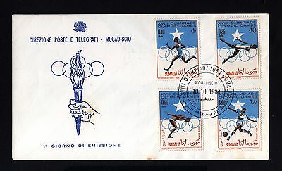 14109-ITALIAN SOMALILAN-FIRST DAY COVER SOMALIA.1964.Olympic games.Italy colonie