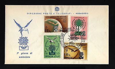 14111-ITALIAN SOMALILAN-FIRST DAY COVER SOMALIA.1960.REFUGEE YEAR.Italy colonies