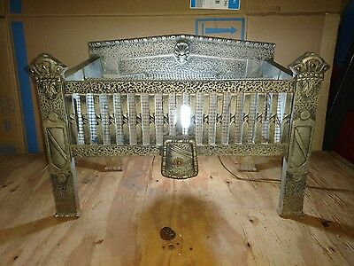 Vintage Marks Mfg Cast Iron Fireplace Insert Electric Chicago Cool Old Works