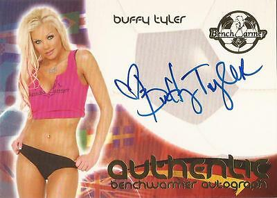 "Benchwarmer 2006 World Cup -  RARE #17 of 30 ""Buffy Tyler"" Auto / Autograph Card"