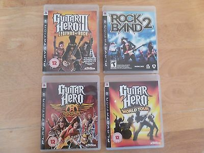 Playstation 3, Three Guitar Hero And One Rock Band Games