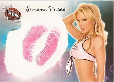 "Benchwarmer 2007 Series 1 - 5 of 16 ""Simona Fusco"" Kiss Card"