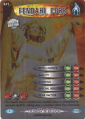 "Doctor Who Battles In Time Ultimate Monsters - Rare ""Fendahl Core"" Card #611"