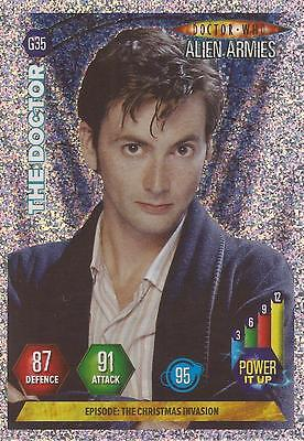 "Doctor Who Alien Armies - ""The Doctor"" Glitter Foil Card G35"