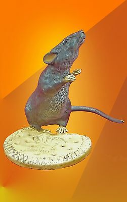 Exclusive Art Deco, Mouse Biscuit Bronze Statue Bergman Figure Animal Figurine