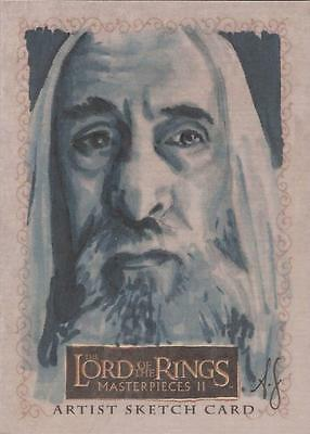 "Lord of the Rings MII - Allison Sohn ""Christopher Lee - Saruman"" Sketch Card"