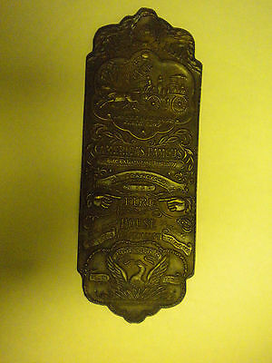 Brass Fire house Door Plaque Wall Sign Engine Entrance San Francisco