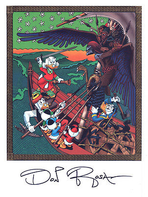 "DON ROSA Druck Art Print ""The Quest For Kalevala""  SIGNIERT signed"