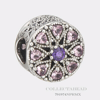 Authentic Pandora Silver Shimmering Medallion Multi-Colored CZ Bead 791974NPRMX
