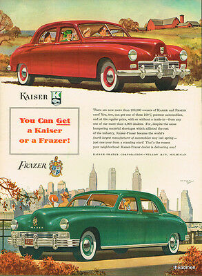 1947 Kaiser~Frazer Original Laminated Ad Art Fast Shipping!!