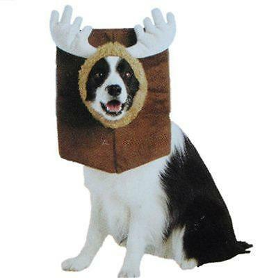 Mounted Moose Dog Costume Brown Unisex S 10-14 in 5-15lbs Top Oktoberfest Solid