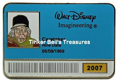 DISNEY Pin LE 300 -  Caretaker - Haunted Mansion - WDI ID Badge Series 2007