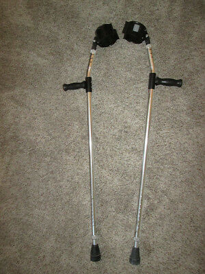 Pair Of Guardian Adult Forearm Crutch Crutches Model 5160 Adjustable