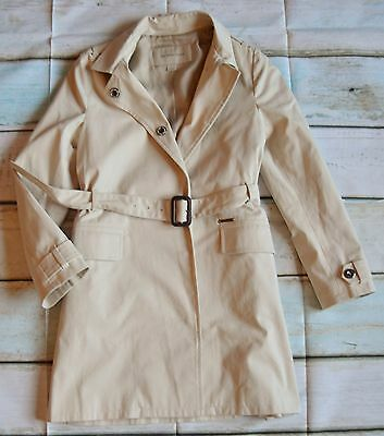 Burberry Girls Designer Belted Classic Mac Trench Coat 9-10-11 Years Perfect