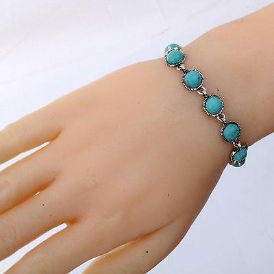 New Vintage Reproduction Tibetan Turquoise Stone Bracelet - Uk Seller Free P&p