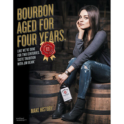 JIM BEAM MILA KUNIS  POSTER 18 By 27