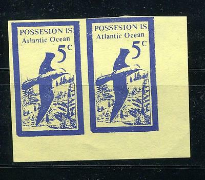 Possesion Islands Bogus or Locals or Fantasy Imperf Pair Mint