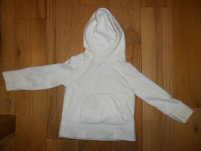 Girls Hooded Fleece Jumper By Next Age 4  Years - Cream / White
