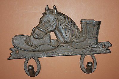 (4),WESTERN DBL.WALL HOOK,horses,country decor,home decor,COWBOY,RANCH,DEN W-7
