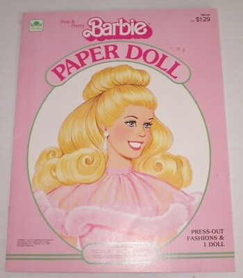 1983 Golden Book Pink & Pretty BARBIE PRESS-OUT Paper Doll Book  Unused