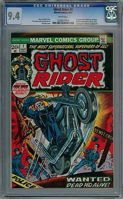 Ghost Rider #1 First Print 1973 Cgc 9.4 Wp Marvel Comics Agents Of Shield