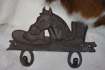 (6),WESTERN DBL.WALL HOOK,horses,country decor,home decor,COWBOY,RANCH,DEN W-7
