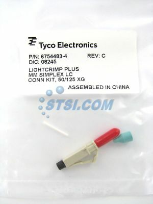 TE (Amp/Tyco) LC MM Simplex 50/125 OM3 Fiber Optic Connector 6754483-4 ~STSI