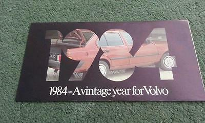 1984 Volvo Range Launch Mailer - 340 343 345 360 240 244 245 760 - Uk Brochure
