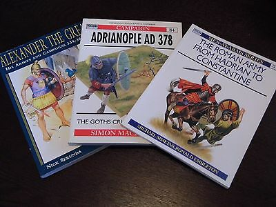 """Osprey Books  """"ancient Wars Collection""""  3 Books $40 Value!!"""