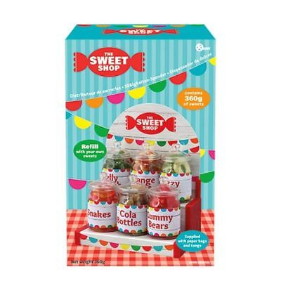 Super Cute 6 Jar with Bags Retro Sweet Shop / Candy Party Accessory Gift - Boxed