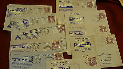 Armed forces air mail letters collection 10 World War II overseas P229