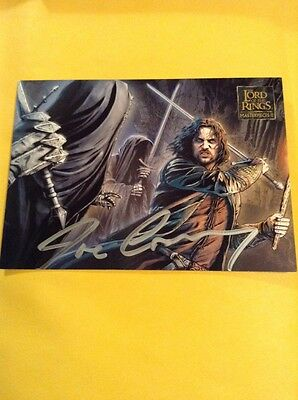 Topps Lotr Lord Of The Rings Masterpieces Ii Auto Signed Joe Corroney