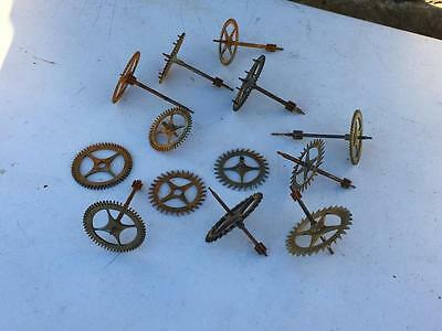 Assorted Longcase Grandfather Clock Wheels Cogs Escape Etc Movement 2 Restore