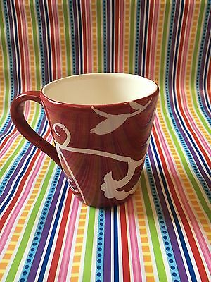 Sandra Lee Red Floral Vine Motif Coffee Cup Mug Replacement
