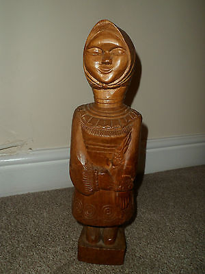 Vintage Carved Wooden Figure - Signed And Dated 1967