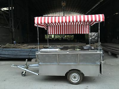 Brand New Concession Stand Trailer Mobile Kitchen With Canopy Free Sea Shipping