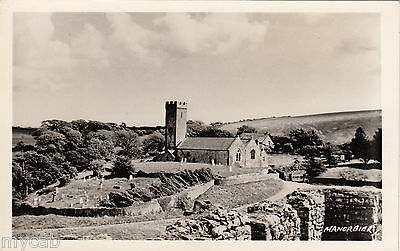 Postcard Manorbier near Tenby Pembrokeshire Wales RP by Squibbs of Tenby