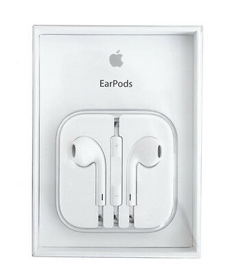 Genuine Original 100% Apple Earpods with Remote and Mic - White