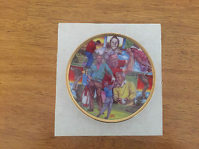 """1992 Sports Impressions Arnold Palmer 4"""" Gold Edition Plate"""