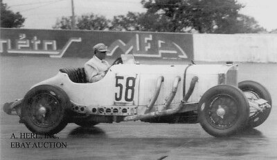 Mercedes SSKL & Caracciola - French Grand Prix Monthlery 1931 - photograph