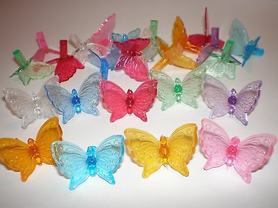 Ceramic Christmas Tree  bulbs 25 Butterfly lights, 9 Different colors New