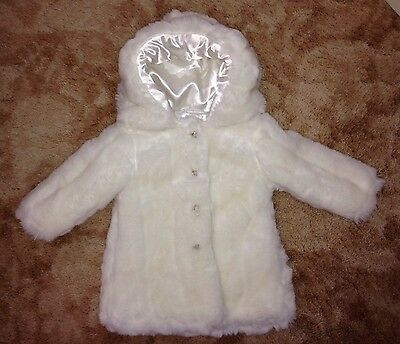 Mamas & Papas Luxury Faux Fur Hooded Coat - Age 9-12 Months - NEW