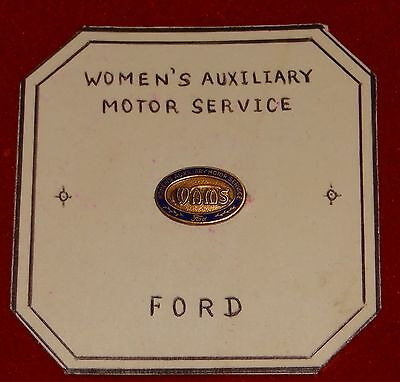 Rare Vintage Ford Womens Auxiliary Motor Service Pin WAMS