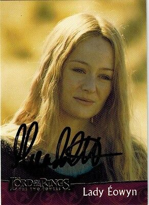 2002 Topps Lord of the Rings Miranda Otto as Eowyn Signed / Autographed on Card