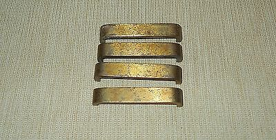 4 Vintage Industrial Look Metal Drawer Pulls Cabinet Handles - Brass Color