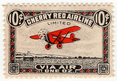 (I.B) Canada Air Mail : Cherry Red Airline 10c